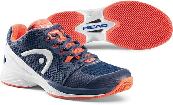 Head Nitro Pro Clay W Raven Navy/Coral 38,5