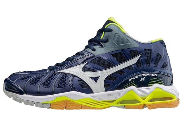 Mizuno Buty Do Siatkówki Wave Tornado X Mid Bluedepths Wht Syellow 42.5
