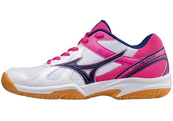 Mizuno Buty Halowe Cyclone Speed (W) Wht/Blueprint/Pinkglo 40.5/7.0