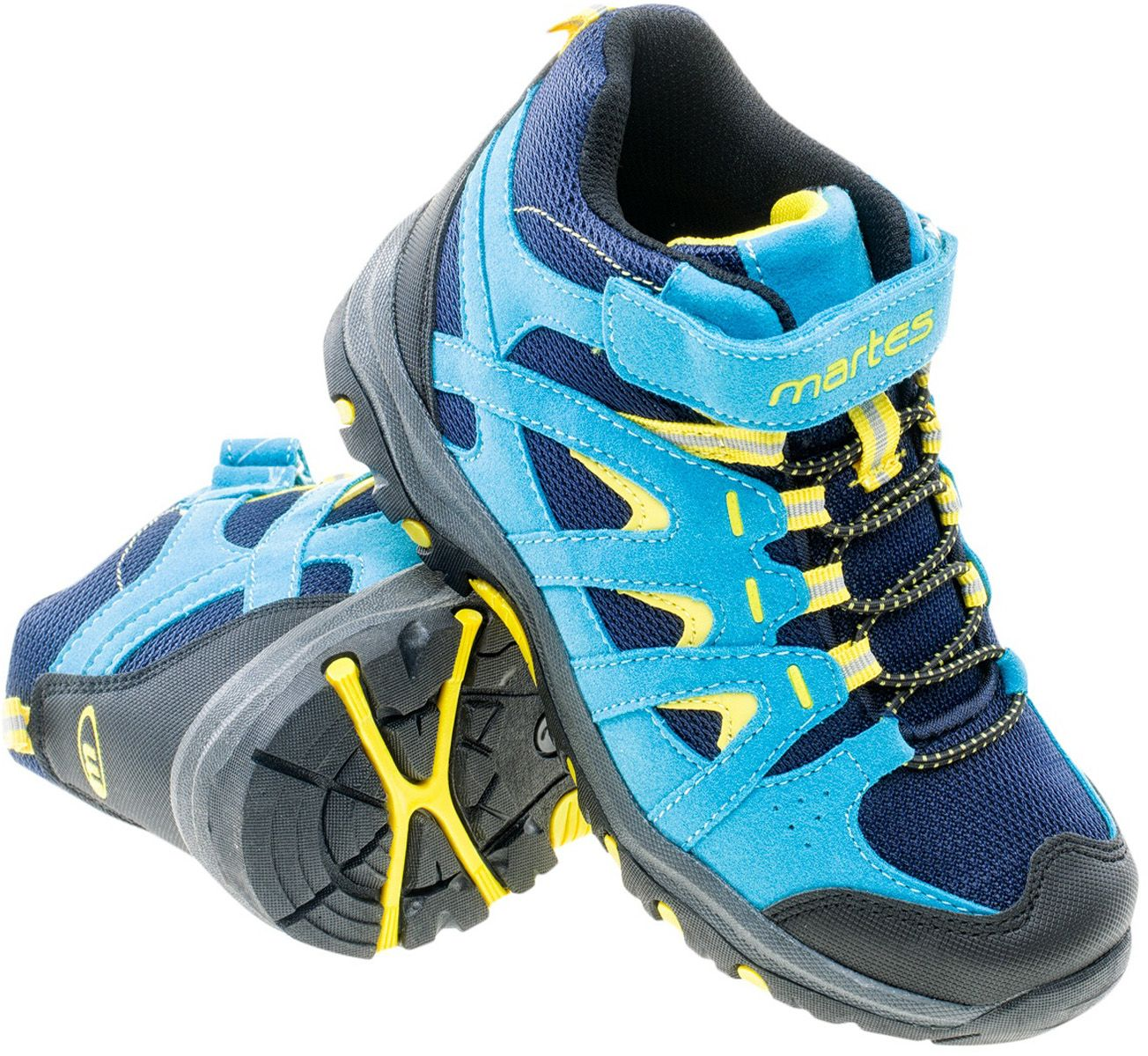 Buty dziecięce DUNLAND MID JR NAVY/LIGHT BLUE/LIME YELLOW roz. 30