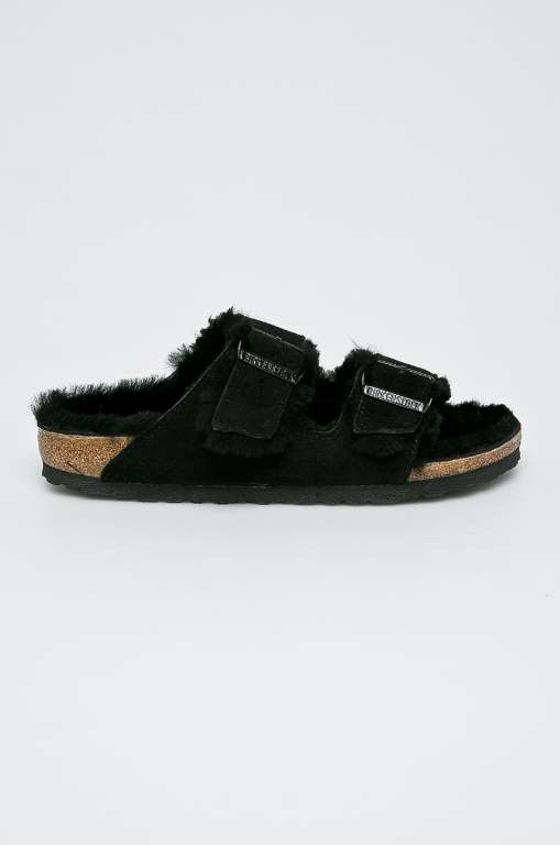 Birkenstock - Kapcie Arizona Fur